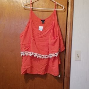 Coral colored tank top